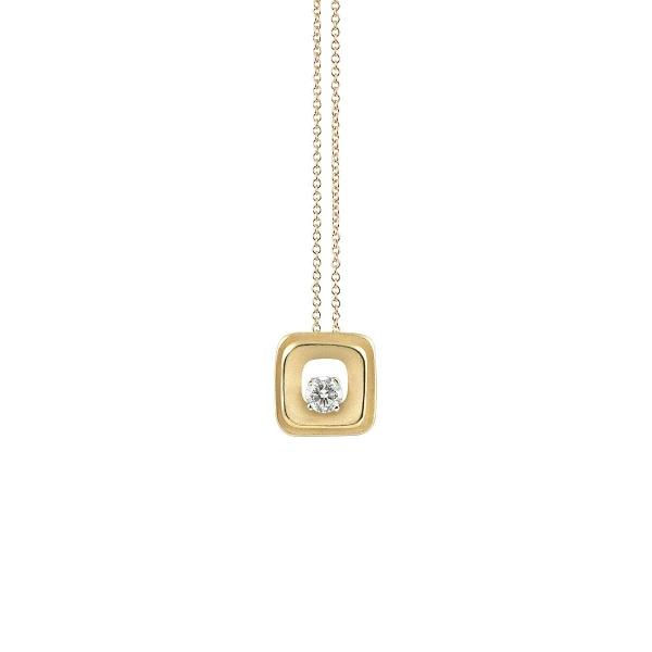Annamaria Cammilli Halskette 18 Karat Yellow Sunrise Gold Anhänger mit Diamanten My Way GPE2667U   UHREN01