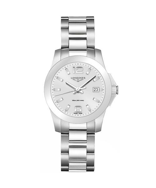 Longines Conquest Damen-Uhr silber Edelstahl-Armband L3.377.4.76.6 zum günstigen Preis online kaufen | UHREN01