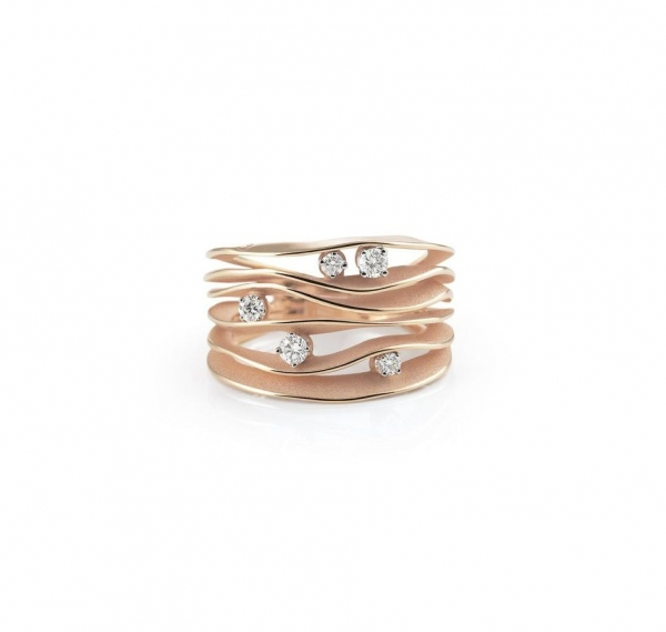 Annamaria Cammilli Ring Dune Rosegold Pink Champagne mit 5 Diamanten GAN0914P
