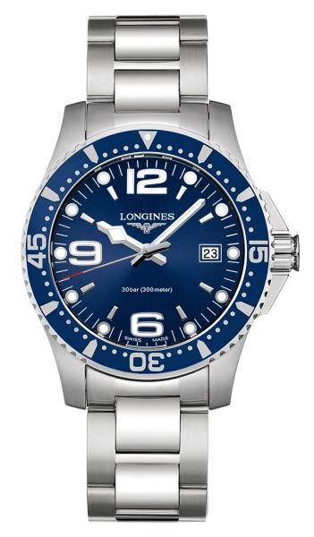 Longines HydroConquest 41mm in blau Taucheruhr mit Quarzwerk L3.740.4.96.6