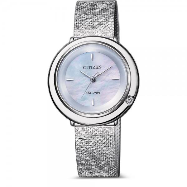 Citizen Eco-Drive Elegant Damenuhr mit Diamant und Perlmutt Ziffernblatt EM0640-82D