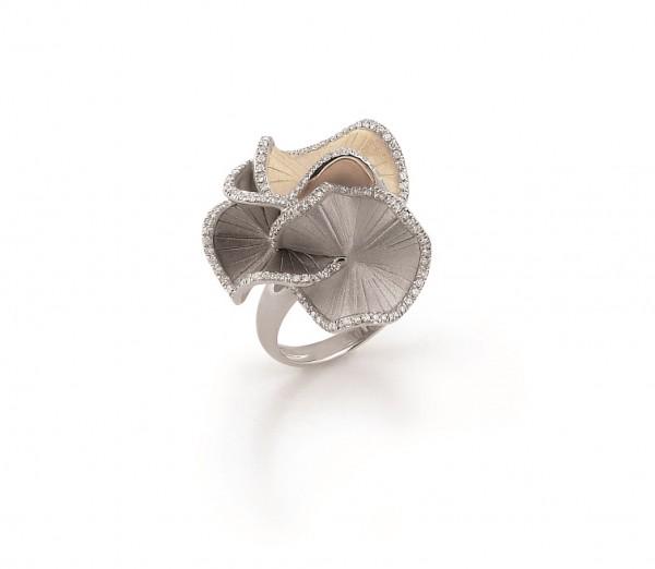 Annamaria Cammilli Damen Ring SULTANA aus 750 Gold mit Diamanten im Brillant-Schliff 0,48ct GAN1814