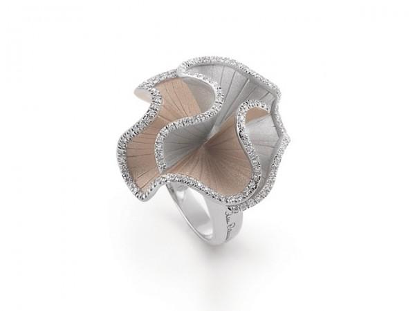 Annamaria Cammilli Damen Ring Sultana aus 750er Weißgold mit Diamanten im Brillant-Schliff 0,53ct GAN1896