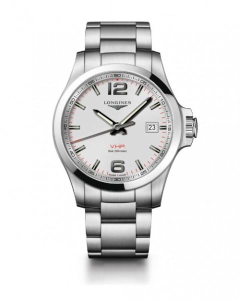 Longines Conquest VHP 41mm Herren-Uhr Edelstahl Zifferblatt weiß L3.716.4.76.6 zum günstigen Preis online kaufen | UHREN01