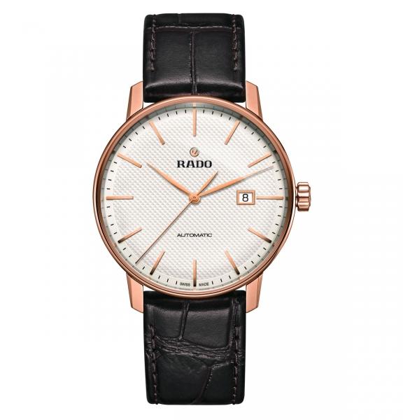 Rado Coupole Classic Automatic Herrenuhr Rosegold Leder-Armband R22877025