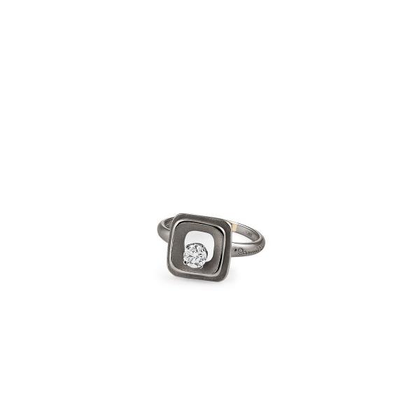 Annamaria Cammilli Ring Schwarz Gold Black Lava 18 Karat Goldring mit Diamanten My Way GAN2668E | UHREN01