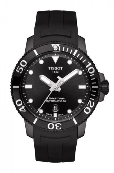 Tissot Seastar 1000 Powermatic 80 T-Sport Herren Automatik Uhr Taucheruhr schwarz T120.407.37.051.00