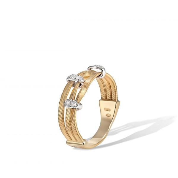 Marco Bicego Ring Gold mit Diamanten Marrakech Onde AG339-B