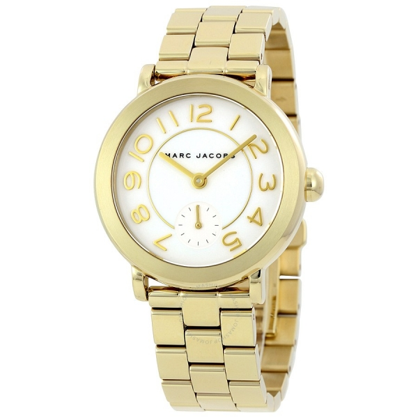 Marc Jacobs Riley Gold-farbene Damen-Uhr MJ3470