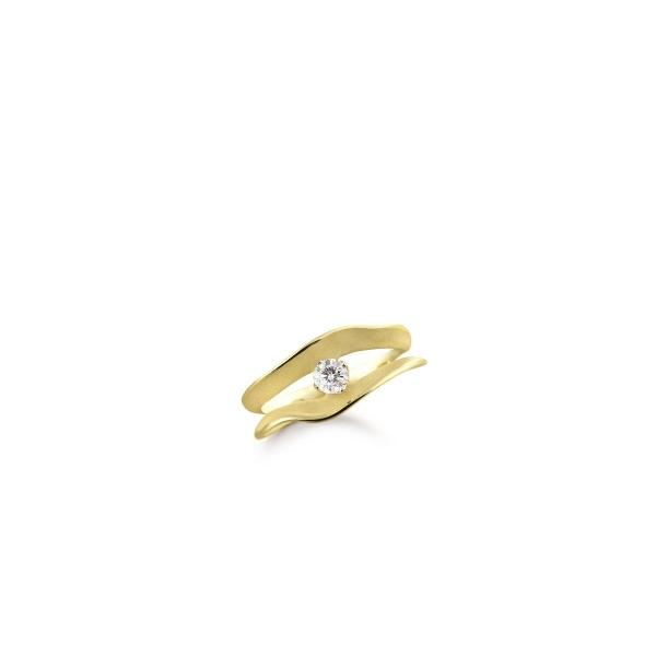 Annamaria Cammilli Ring Lemon Bamboo Gold mit Diamanten Dune Assolo GAN1561Y