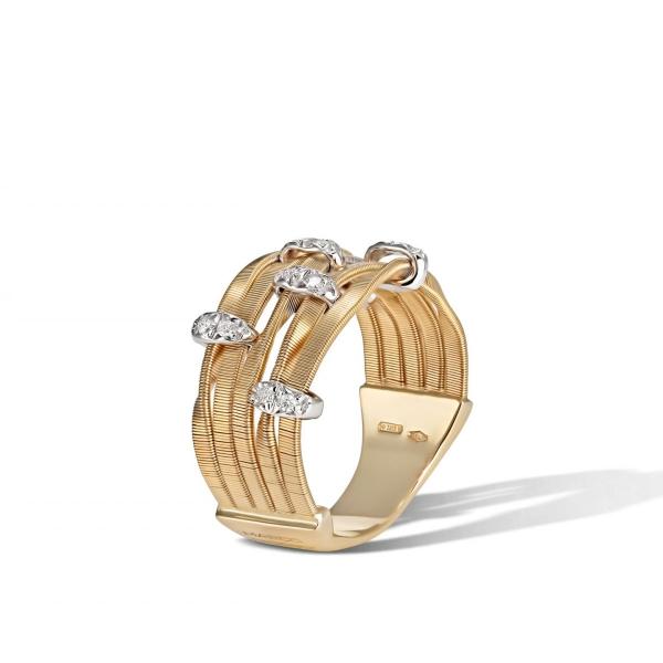 Marco Bicego Ring Gold mit Diamanten Marrakech Onde AG340-B