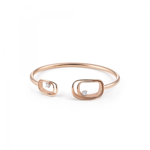 Annamaria Cammilli Armband 18 Karat Rosegold Pink Champagne & Diamanten Armspange Serie Uno GBR2791P   UHREN01