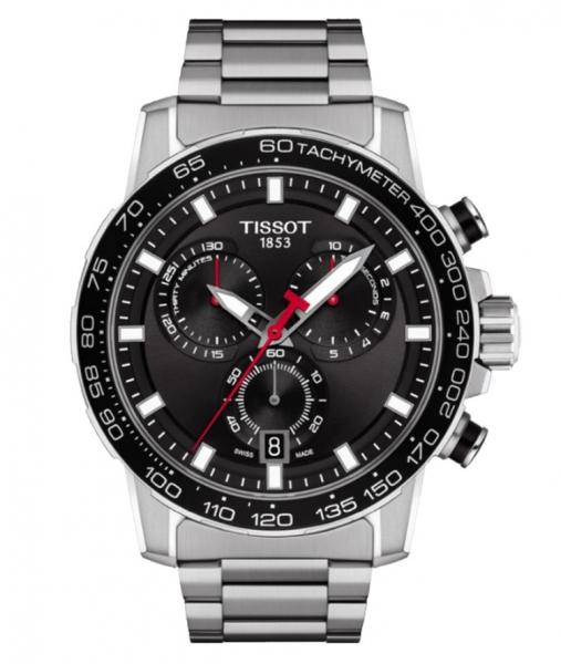Tissot Supersport Chrono Silber Schwarz Edelstahl-Armband 45mm Quarz T125.617.11.051.00