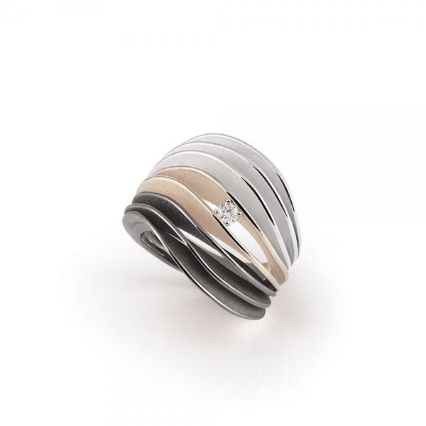 Annamaria Cammilli Ring Multicolor Gold mit Diamanten Dune Velaa GAN3216T