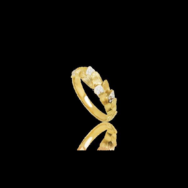Luisa Rosas Ring Gold mit Diamanten Skin S LRSK114