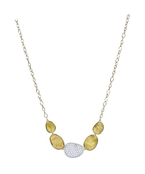 Marco Bicego Kette Gold mit Diamanten Lunaria Halskette CB1974-B-YW