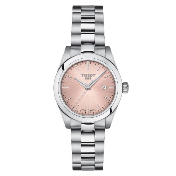 Tissot T-My Lady Silber Rosa Edelstahl- & Leder-Armband Damenuhr Quarz T132.010.11.331.00