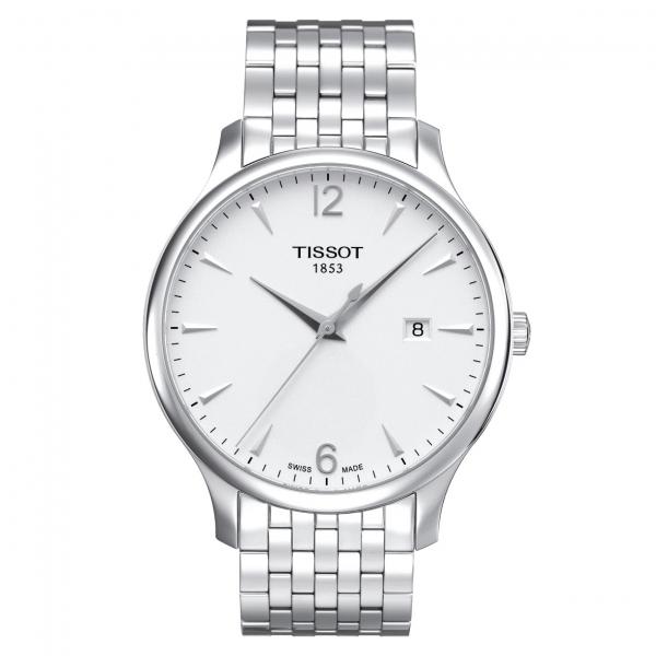 Tissot Tradition Herrenuhr 42mm sibern weiß Edelstahl-Armband T063.610.11.037.00 Preis günstig online kaufen | UHREN01
