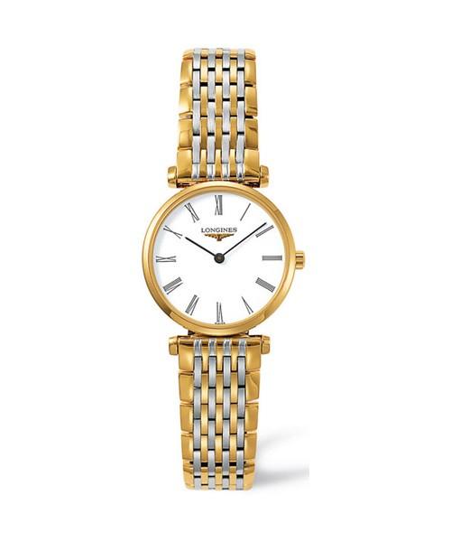 Longines La Grande Classique Damen-Uhr Bicolor Gold Silber 24mm Zifferblatt weiß L4.209.2.11.7 zum günstigen Preis online kaufen | UHREN01