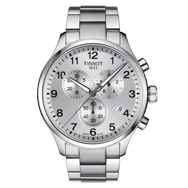 Tissot Chrono XL Classic Herren Chronograph Quarz 45mm Silber Edelstahl-Band T116.617.11.037.00