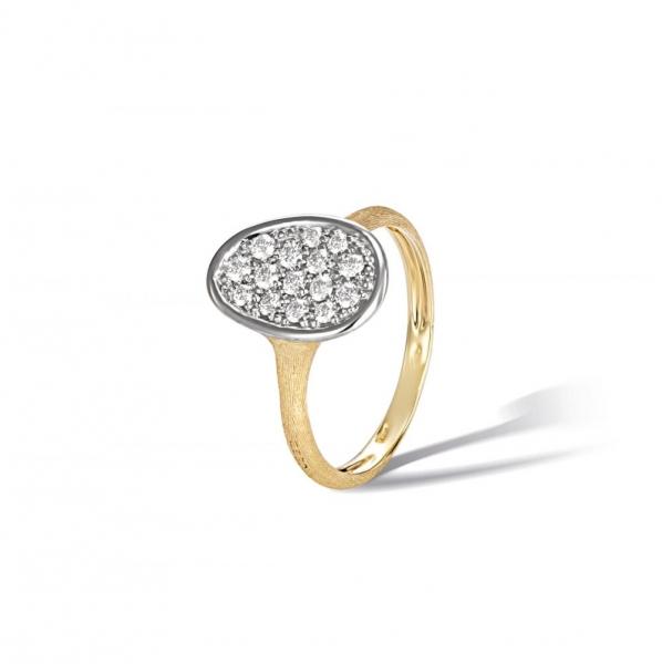 Marco Bicego Ring Lunaria Mini mit Diamanten Pavé AB578 B YW