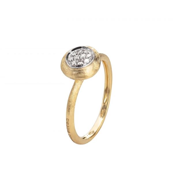 Marco Bicego Ring Gold mit Diamanten Pavé Jaipur Link AB471 B YW