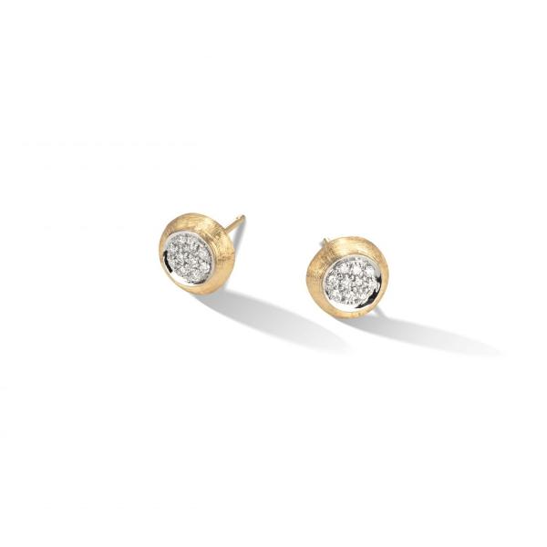 Marco Bicego Jaipur Link Ohrringe Gold mit Diamanten Pavé OB1377 B YW