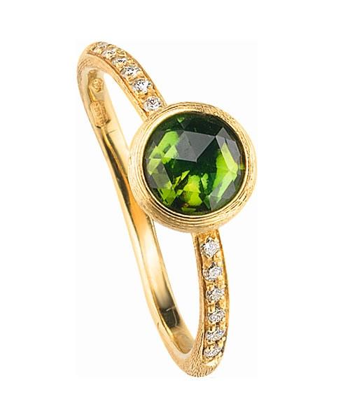 Marco Bicego Ring Gold mit grünem Turmalin & Diamanten Jaipur AB471-B-TV01