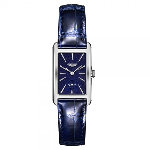 Longines DolceVita Herren Blau Leder-Armband 37mm Quarz L5.512.4.93.2