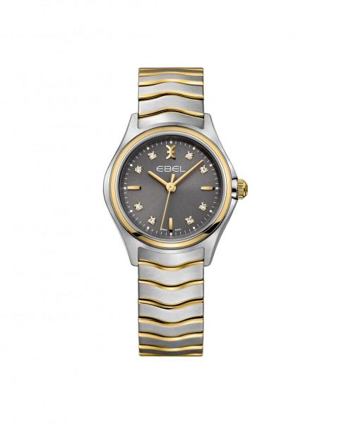 Ebel Wave Quarz 1216283 18K Gelbgold Damenuhr mit 8 Diamanten