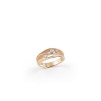 Annamaria Cammilli Ring Dune Orange Apricot Gold mit 3 Diamanten GAN2662J   UHREN01
