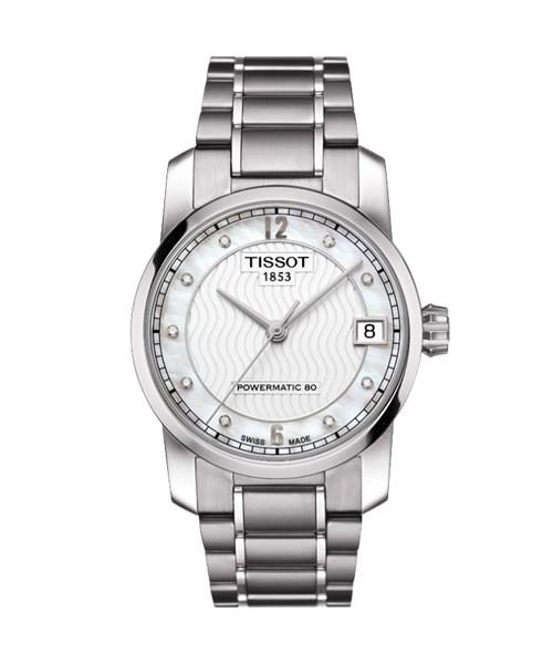 Tissot Titanium Powermatic 80 Automatic Damenuhr mit Diamanten T087.207.44.116.00
