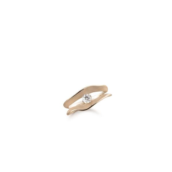 Annamaria Cammilli Ring 18 Karat Natural Beige Gold mit Diamanten Dune Assolo GAN1561J | UHREN01
