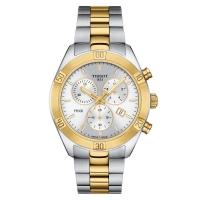 Tissot PR 100 Sport Chic Chronograph Bicolor Quartz Damenuhr T101.917.22.031.00 | UHREN01