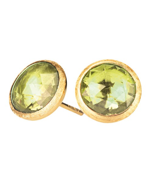 Marco Bicego Ohrringe Jaipur Gold Ohrstecker mit Lemon-Citrin grün OB957-LC01