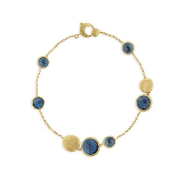Marco Bicego Jaipur Armband aus Gold mit blauen London Topas Edelsteinen BB1485-TPL01 | UHREN01