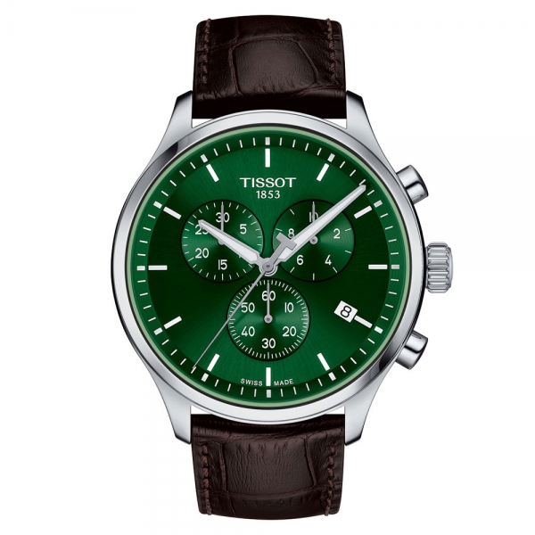 Tissot Chrono XL Classic Grün Leder-Armband Quarz 45mm Herrenuhr T116.617.16.091.00