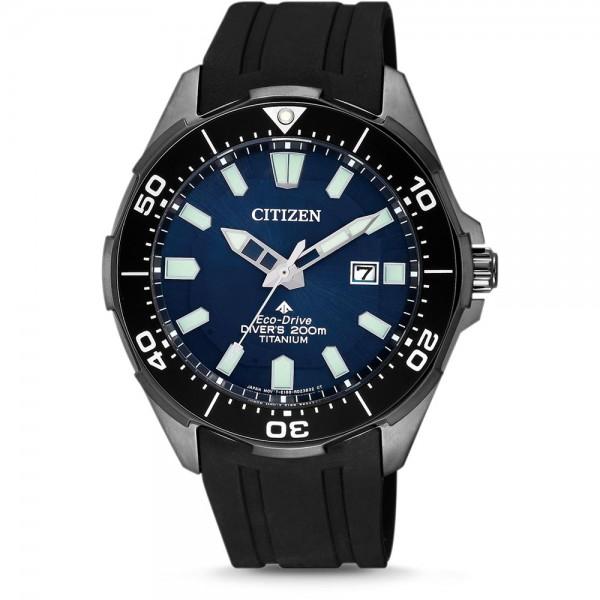 Citizen Promaster Marine Diver 200m BN0205-10L Herren Taucheruhr schwarz blau
