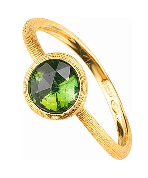 Marco Bicego Ring Gold mit grünem Turmalin Edelstein Jaipur AB471-TV01