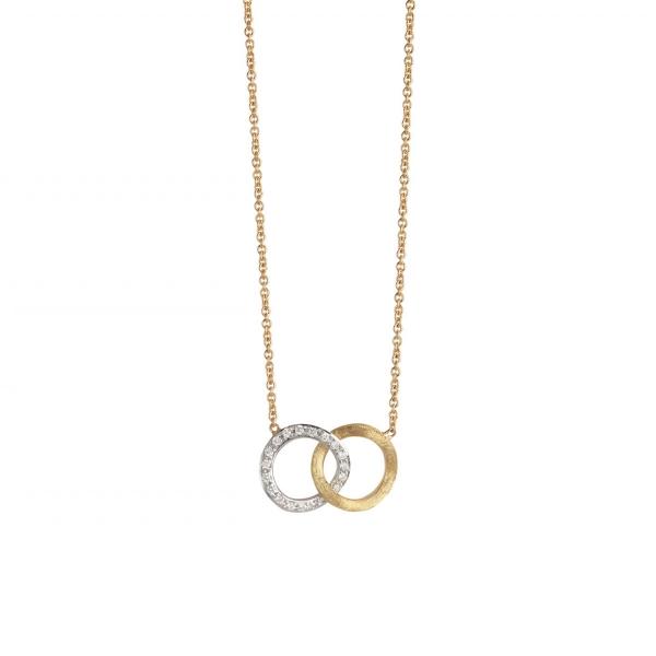 Marco Bicego Kette mit Diamanten Gold 18 Karat Jaipur Link CB1803 B YW