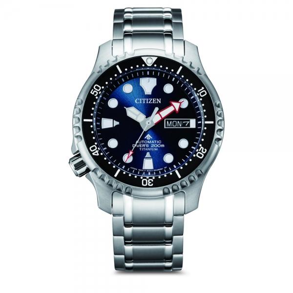 Citizen Promaster Marine Automatik Diver Super Titanium Blau Taucheruhr NY0100-50ME