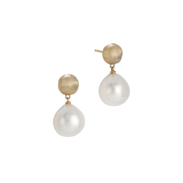 Marco Bicego Ohrringe Perlen Gold 18 Karat Africa OB1000 PL01 Y