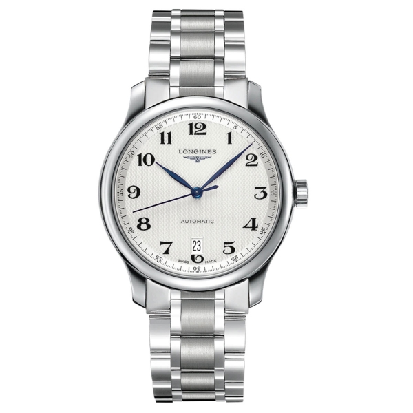 Longines Master Collection Herrenuhr Automatik 38,5mm Silbern Edelstahl-Armband L2.628.4.78.6