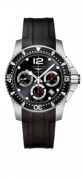 Longines HydroConquest Automatic 41mm schwarz Kautschuk-Armband L3.744.4.56.2 zum günstigen Preis online kaufen   UHREN01