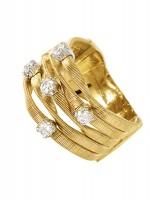Marco Bicego Ring Marrakech Gold mit Diamanten 5 Stränge AG157-B7