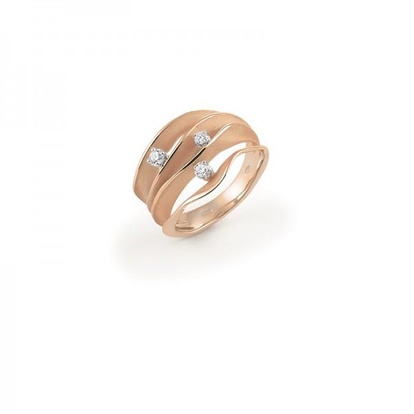 Annamaria Cammilli Damen Ring Essential DUNE aus 750er Gelbgold mit 3 Brillanten 0,18ct GAN1942J