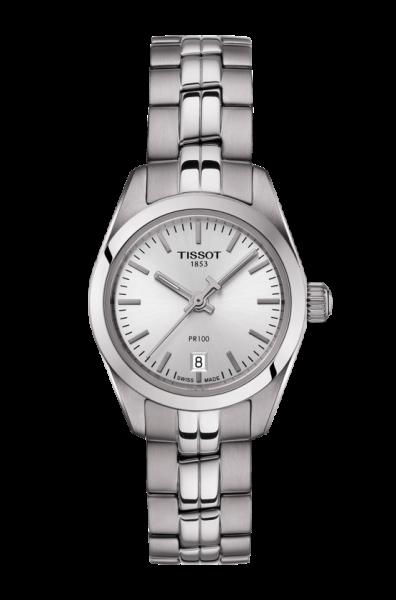 Tissot PR 100 Lady Small 25mm Damenuhr mit Silbernen Zifferblatt T101.010.11.061.00