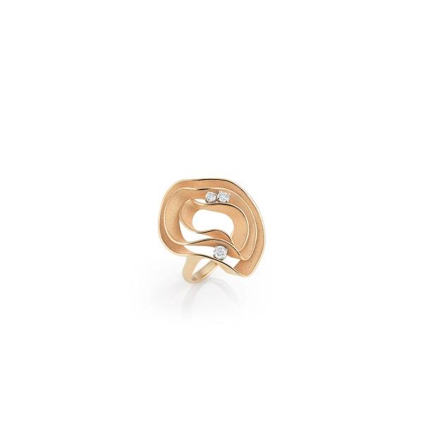 Annamaria Cammilli Ring Dune Electa Orange Apricot Gold mit 3 Brillanten GAN3076J