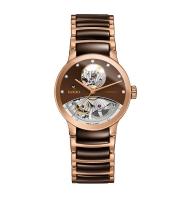 Rado Centrix Automatik Diamonds Open Heart Rosegold Braun Jubile Damenuhr 33mm R30248712   Uhren01