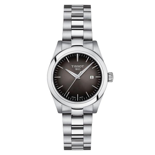 Tissot T-My Lady Silber Anthrazit Edelstahl- & Leder-Armband Damenuhr Quarz T132.010.11.061.00